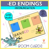 -Ed Endings | Regular Verbs PRONUNCIATION Game (With Sound) | BOOM Cards | Dista