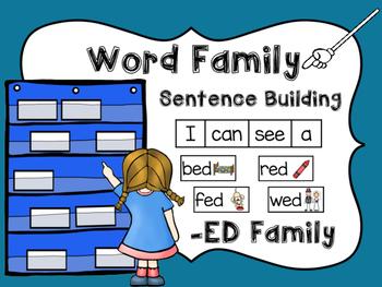 -ED Word Family Sentence Building