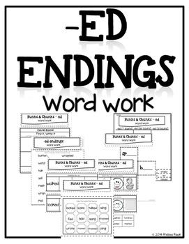 -ED endings word work - Phonics Interactive Notebook