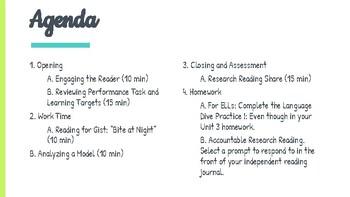 *EDITABLE* 5th Grade EL Module 2 Unit 3 Slides