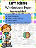 **EDITABLE** 5th Grade Earth Science Worksheets