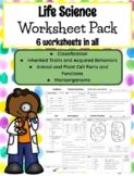 **EDITABLE** 5th Grade Life Science Worksheets