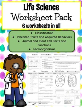 **EDITABLE** 5th Grade Life Science Worksheets by Teach in ...