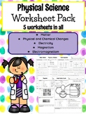 **EDITABLE** 5th Grade Physical Science Worksheets