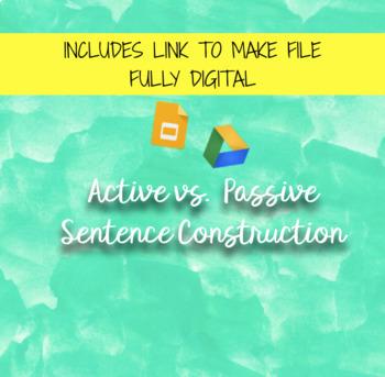 *EDITABLE* Active vs. Passive Voice worksheet bundle
