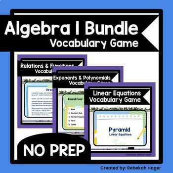 Algebra 1 Vocabulary Vocabulary Worksheets Teaching