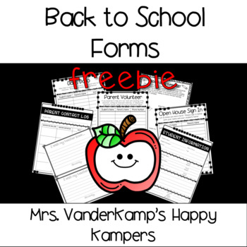 **EDITABLE** Back to School Forms [[FREEBIE]]