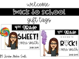 {EDITABLE} Back to School Gift Tag | add image + treat