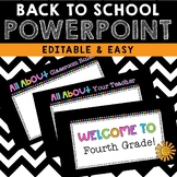 *EDITABLE* Back to School Powerpoint {Black & Neon}