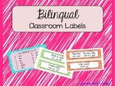*EDITABLE* Bilingual Classroom Labels (Spanish and English!)