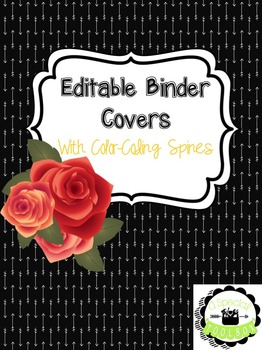 [EDITABLE] Binder Covers with Color-Coded Spines