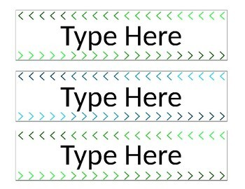 *EDITABLE* Blue and Green Sterilite 3 Drawer Labels