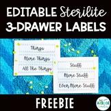 *EDITABLE FREEBIE* Blue and Green Sterilite 3 Drawer Labels