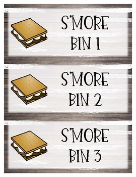 **EDITABLE** CAMP Theme S'More Container Labels
