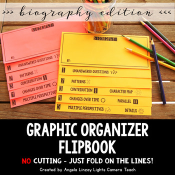 Graphic Organizers Flipbook: Biography  {EDITABLE COVER}