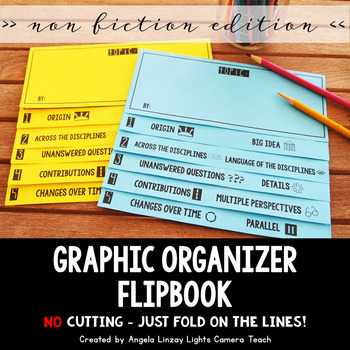 **EDITABLE COVER** Graphic Organizers w/Depth & Complexity Flipbook: Non Fiction