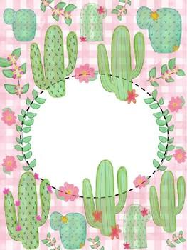 *EDITABLE Cactus Binder Cover!*