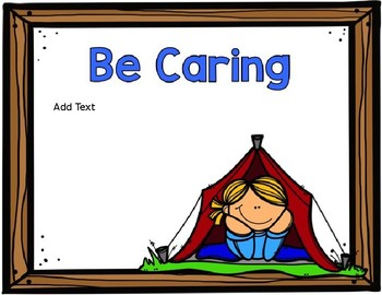 *EDITABLE* Camping Themed Classroom Rules Posters