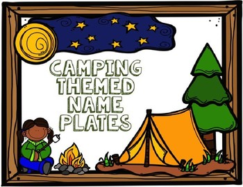 *EDITABLE* Camping Themed Name Tags/Name Plates