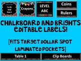 {EDITABLE} Chalkboard and Brights Labels - Fits ALL TARGET