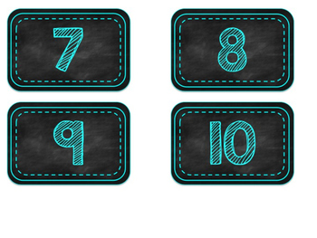 **EDITABLE** Chalkboard and Turquoise DRA and F&P Labels