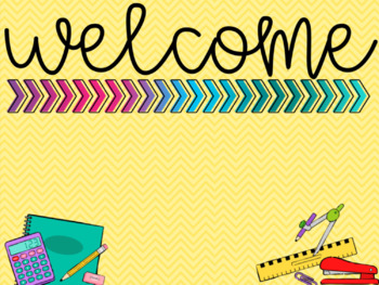 [EDITABLE] Chevron Classroom Expectations & WELCOME sign