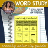 *EDITABLE* Choice Boards - Word Work Activities for Spelli