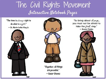 **EDITABLE** Civil Rights Movement Interactive Notebook Pages