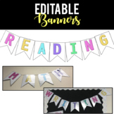 {EDITABLE} Classroom Banners {Bright}