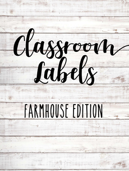 *EDITABLE* Classroom Labels ~ Farmhouse