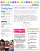 {EDITABLE} Classroom Newsletter Template - Color and B&W V