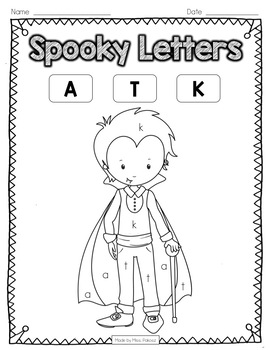 **EDITABLE** Color-By-Letter - Halloween Edition