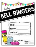 ** EDITABLE ** Daily Bell Ringer COVERPAGES FOR ANY SUBJECT!!