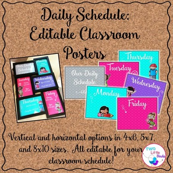 *EDITABLE* Daily Schedule Posters