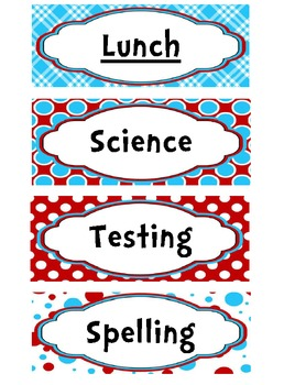**EDITABLE** Dr Seuss Inspired Schedule Cards