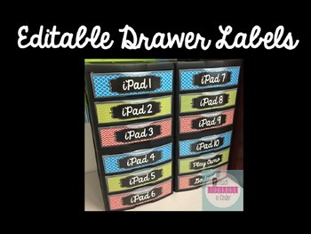 *EDITABLE* Drawer Labels