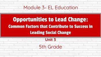 **EDITABLE** EL Education- Grade 5 Module 3 BUNDLE