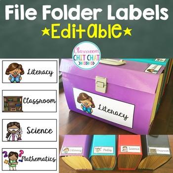 *EDITABLE* File Folder Labels