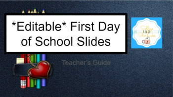 *EDITABLE* First Day of Music Slides