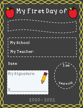 {EDITABLE} First Day of School Sign FREEBIE
