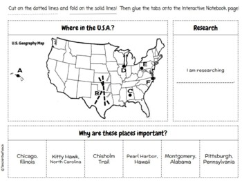 **EDITABLE** Geography Interactive Notebook Pages