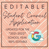 | EDITABLE | Google Doc Student Council Application for All Grade Levels