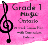 Grade 1 *MUSIC* Lesson Plans first 12 weeks
