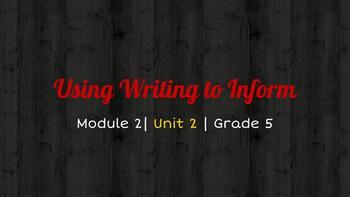*EDITABLE* Grade 5 MODULE 2 Bundle EL EDUCATION