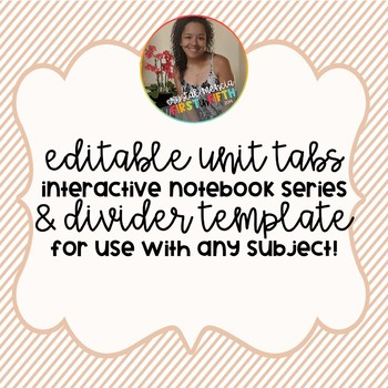 *EDITABLE* Grade 6 Unit Dividers & Tabs (Interactive Notebook Series)