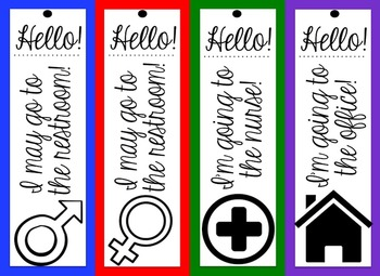 *EDITABLE* Hall Passes for ANY Classroom!