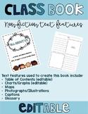 *EDITABLE* Informational Class Book - Nonfiction Text Features Practice