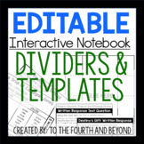 *EDITABLE* Interactive Notebook Templates & Dividers