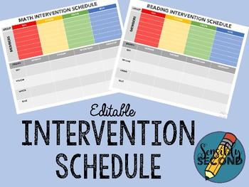 **EDITABLE** Intervention Group Schedule