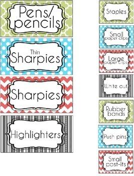 ~ EDITABLE ~ Isabella Teacher Toolbox labels